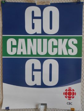 Go Canucks Go! Vancouver Canucks Poster, 2011 Playoffs vs Nashville Predators.